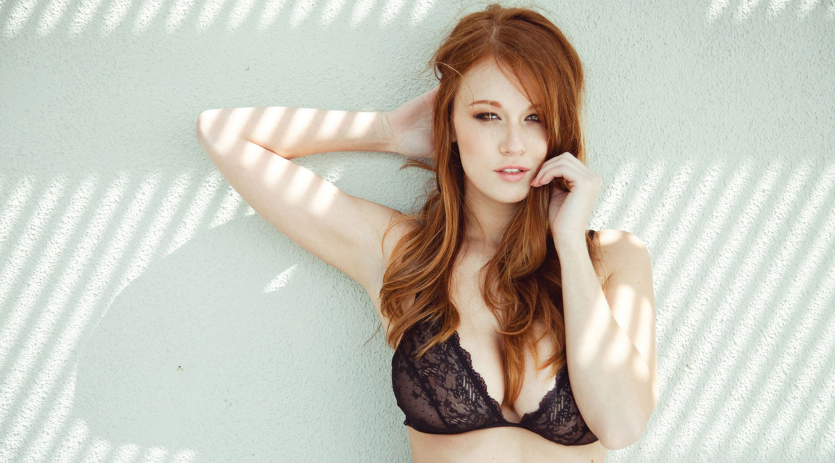 July Redhead lingerie models